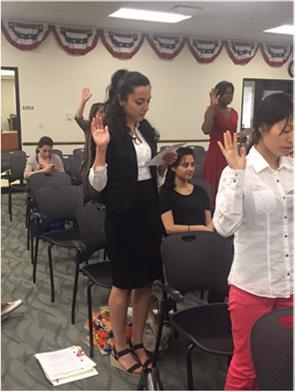 Rana during the citizenship ceremony.