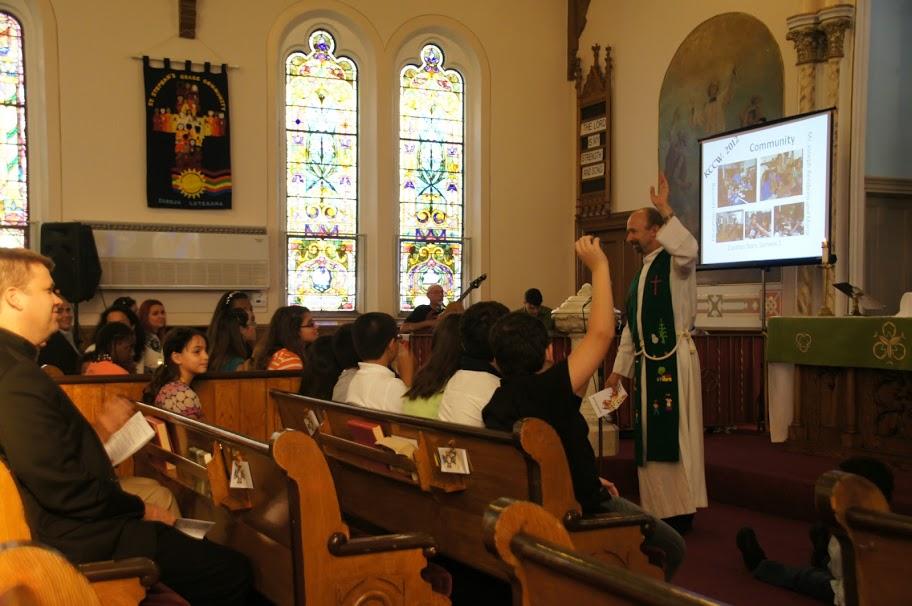 Pastor Moacir preaching