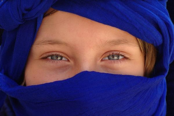 Syrian girl's eyes
