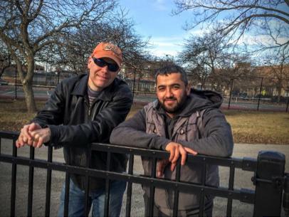 Paul Carlson and Tadzhidin in the park
