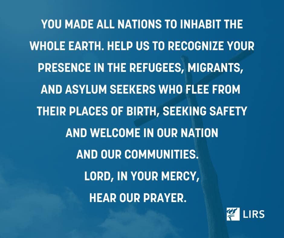 Prayers for refugees 2